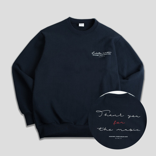 THANKU CREWNECK -네이비-