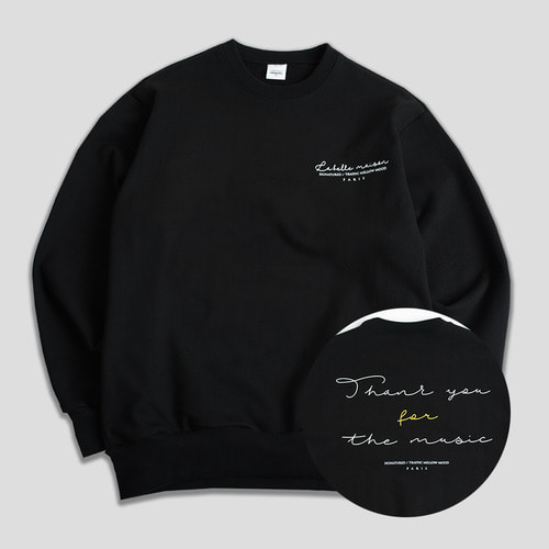 THANKU CREWNECK -블랙-